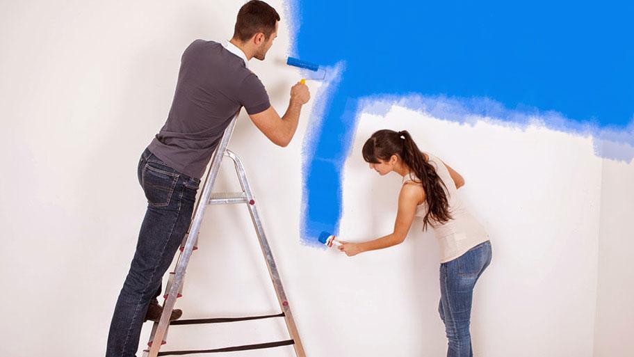 Hướng dẫn cách sơn lại tường đã quét vôi