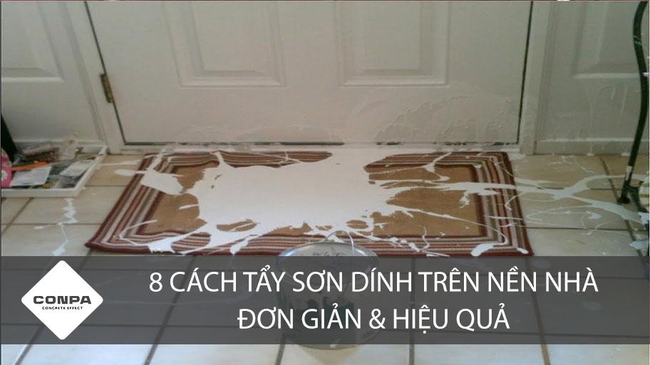 Cách tẩy sơn trên nền nhà