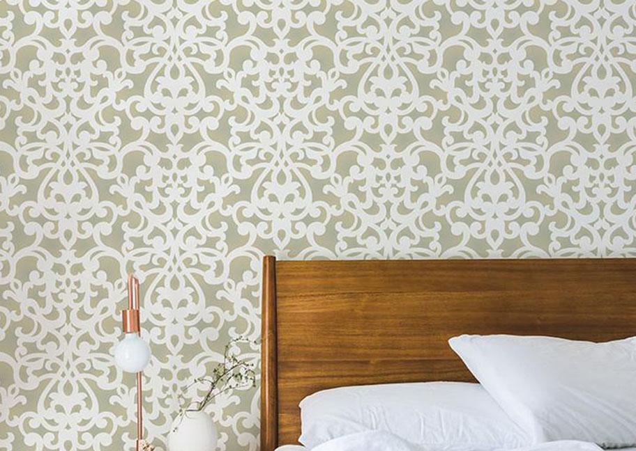 Hoa văn sơn tường trong phòng ngủ