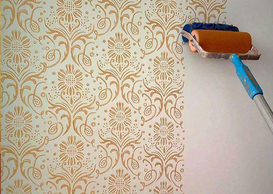 Sơn hoa văn trên tường là gì?