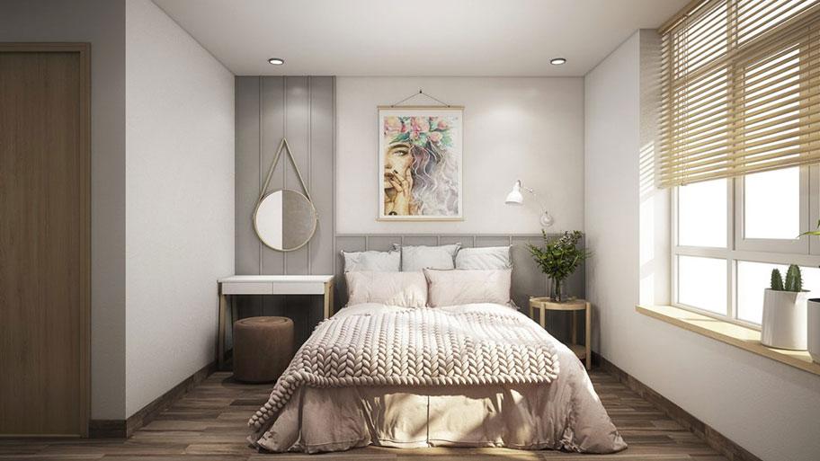 Sử dụng màu xám ghi cho phòng ngủ