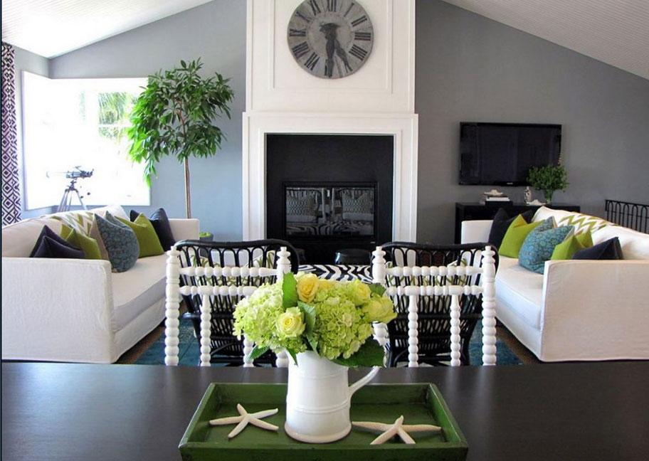 Trang trí cho ngôi nhà sử dụng màu xám ghi