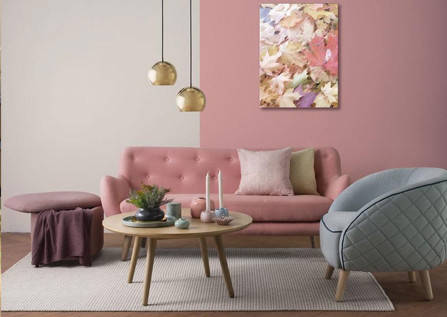 Trang trí nhà sử dụng gam màu hồng san hô