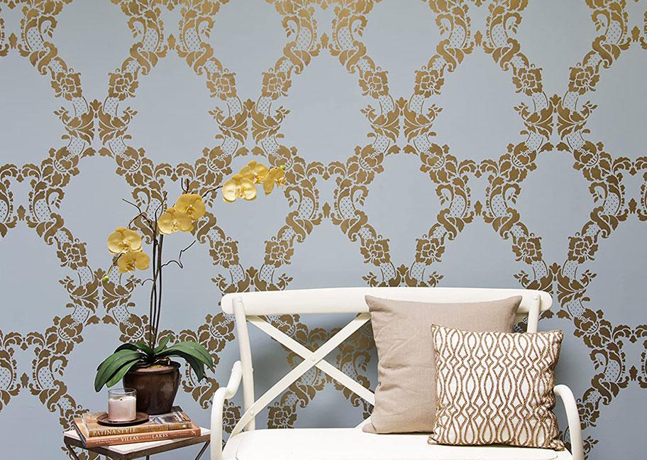 Phối hợp trang trí nội thất khi sử dụng sơn hoa văn