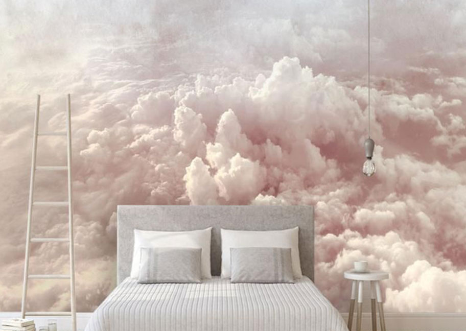 Cách sơn tường đám mây độc đáo