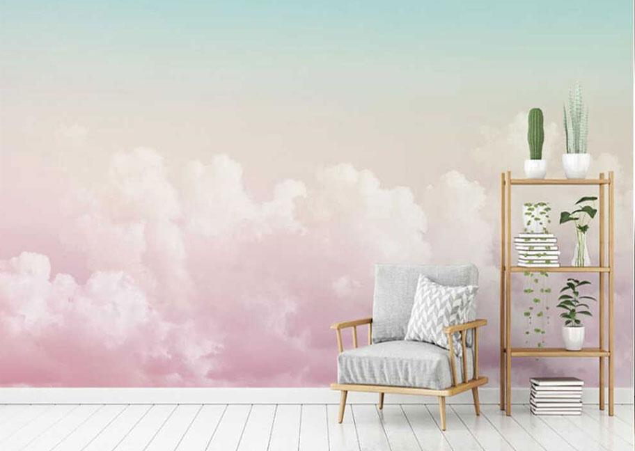 Gợi ý màu tường nhà sơn hình đám mây đẹp