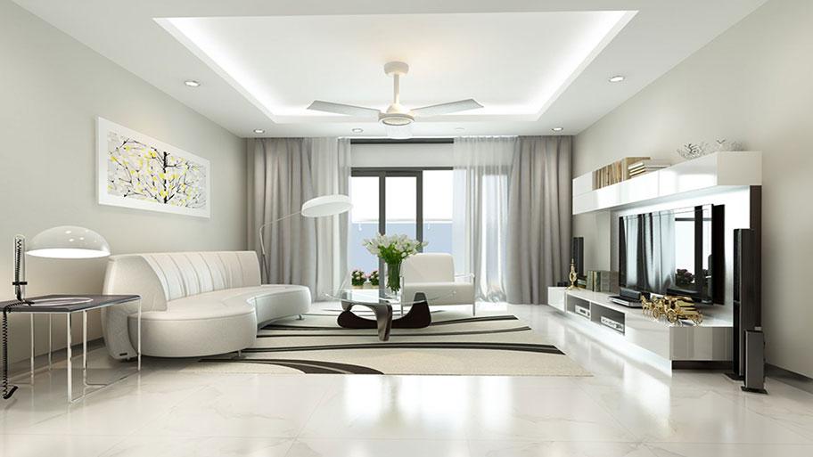 Phối màu sơn tường nhà sáng và gạch trắng