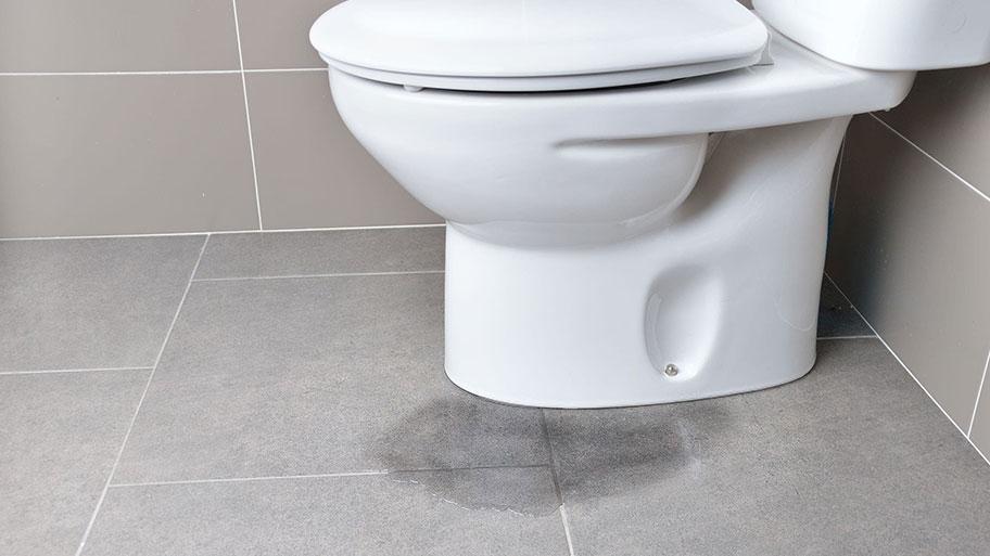 Phòng vệ sinh bị rỉ nước