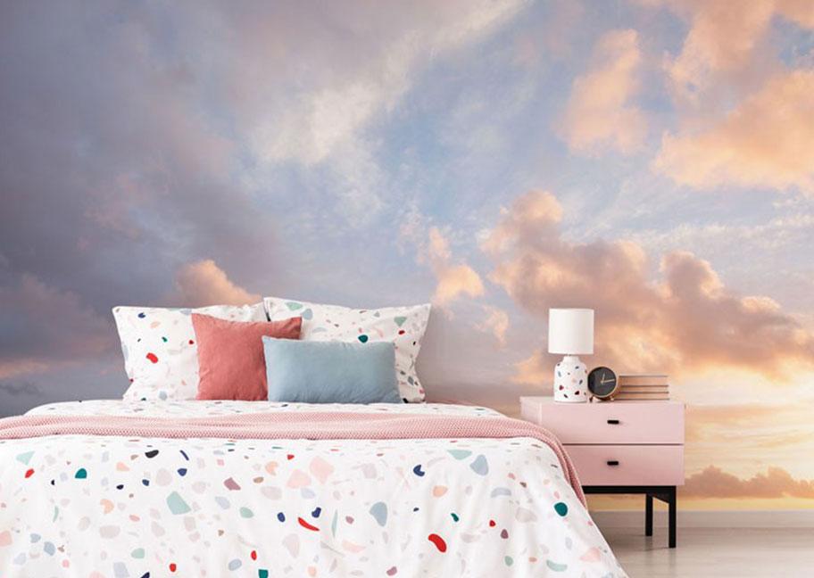 Sơn phòng ngủ hiệu ứng đám mây đẹp