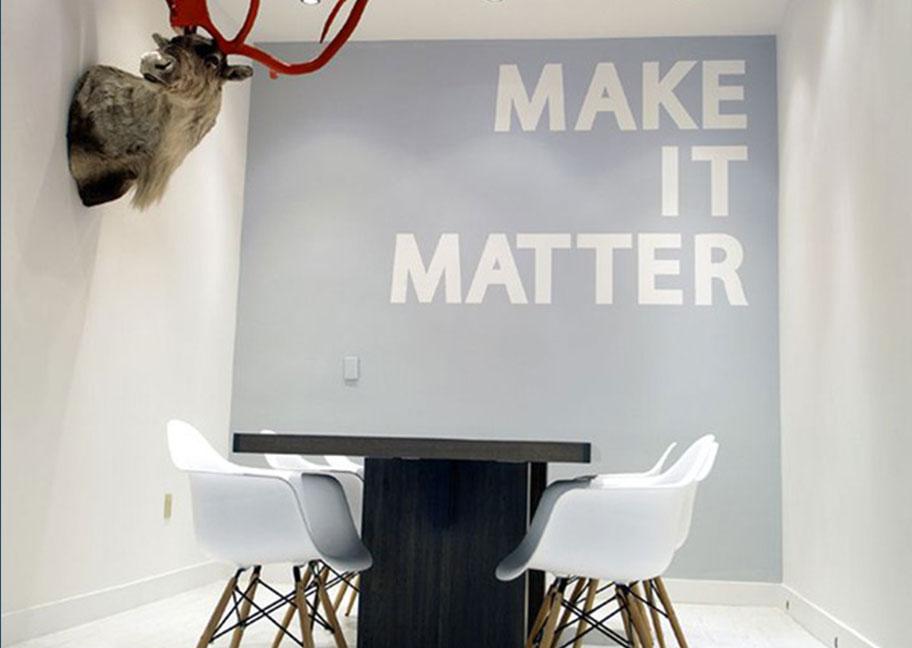 Sử dụng câu quotes trong sơn tường nhà