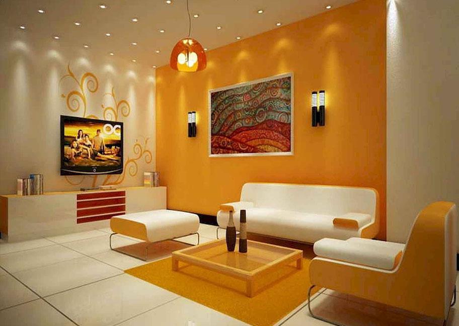 Chọn màu sơn tường phòng khách hợp phong thủy