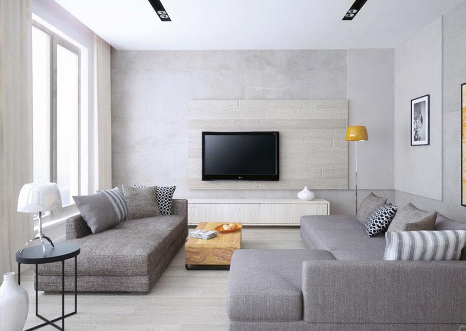 Tivi gắn tường giúp phòng khách rộng và hiện đại hơn