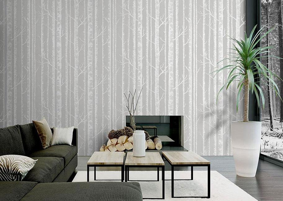 Giấy dán tường cho phòng khách hiện đại