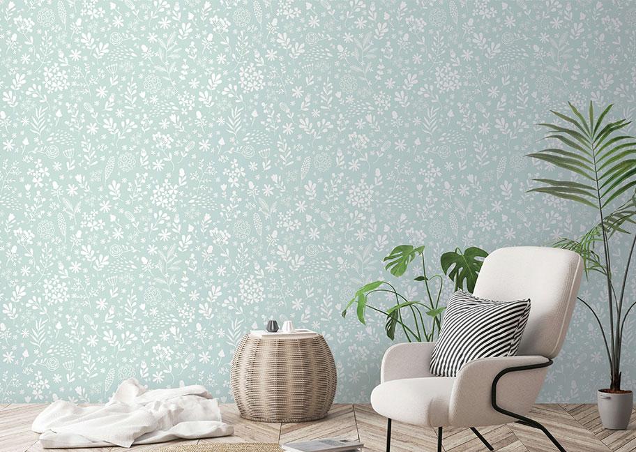 Giấy dán tường trang trí phòng khách đẹp tinh tê
