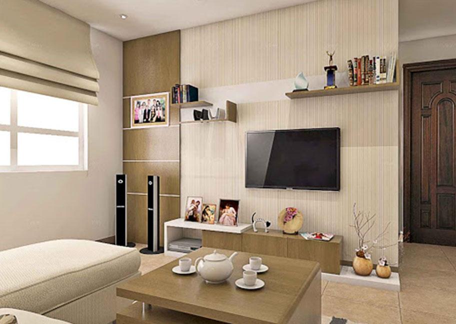 Mẫu phòng khách trang trí hiện đại