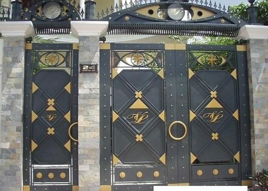 Phối màu sơn cửa sắt với họa tiết đẹp