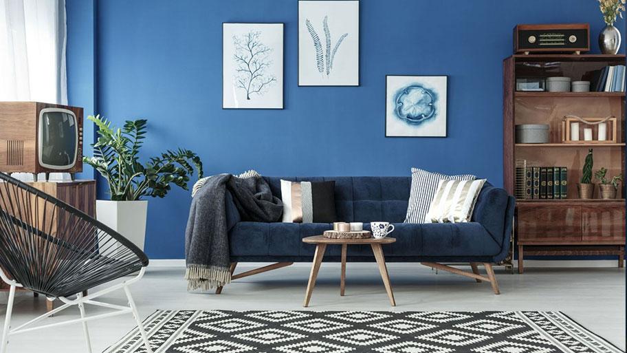 Tranh trí tường phòng khách bằng tranh treo tường