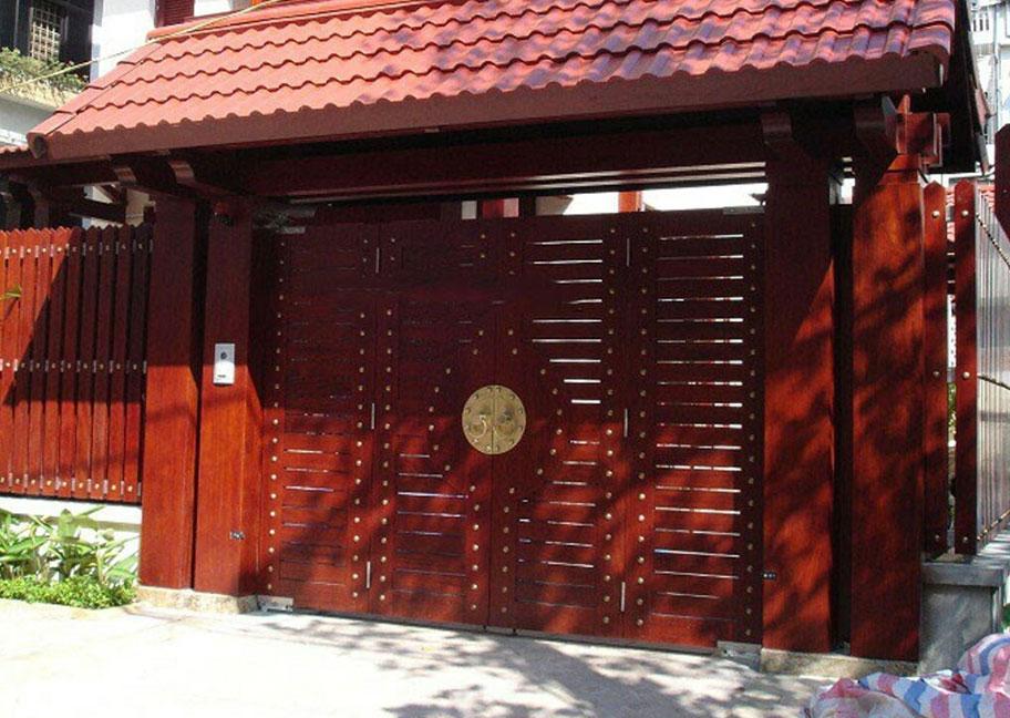 Sơn cửa sắt màu giả gỗ
