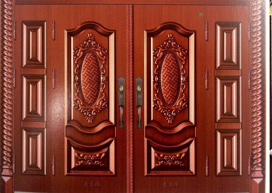 Sơn màu cửa sắt giả gỗ đẹp