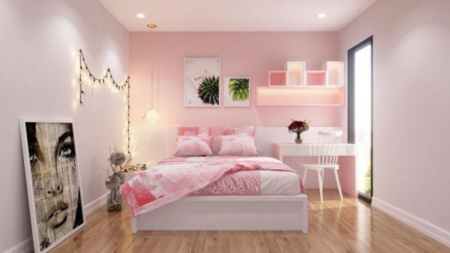 Sơn nhà màu hồng nhạt đẹp