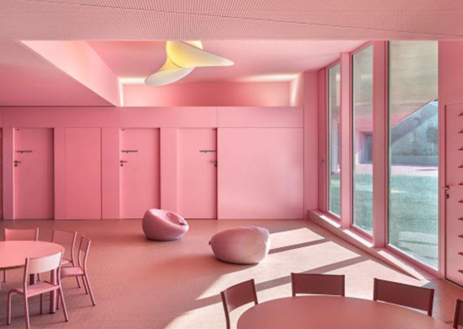 Sơn nhà tông màu hồng