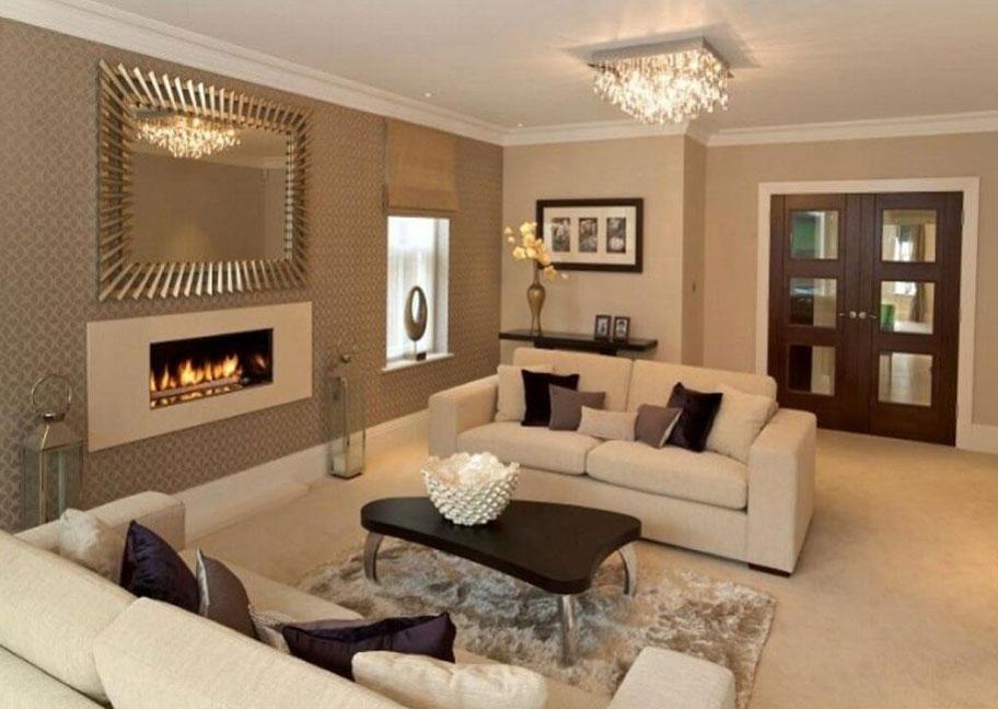 Mẫu trang trí nội thất phòng khách hợp với người mệnh Mộc