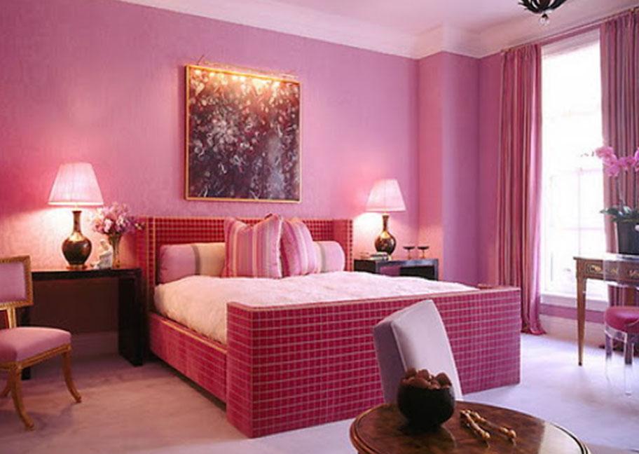 Sơn phòng ngủ màu hồng cánh sen