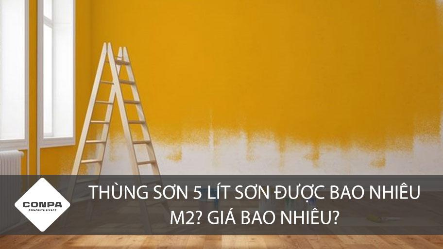 Thùng sơn 5 lít sơn được bao nhiêu m2